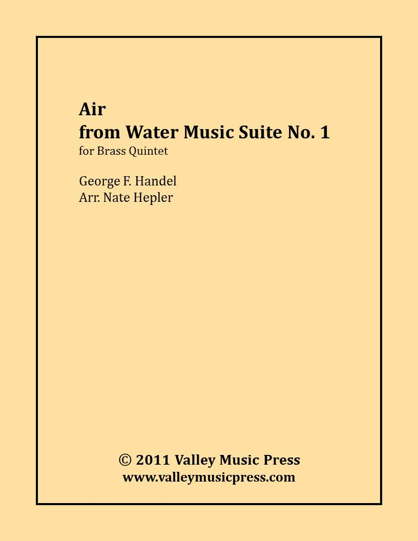 Handel - Air from Water Music Suite No. 1 (Brass Quintet)
