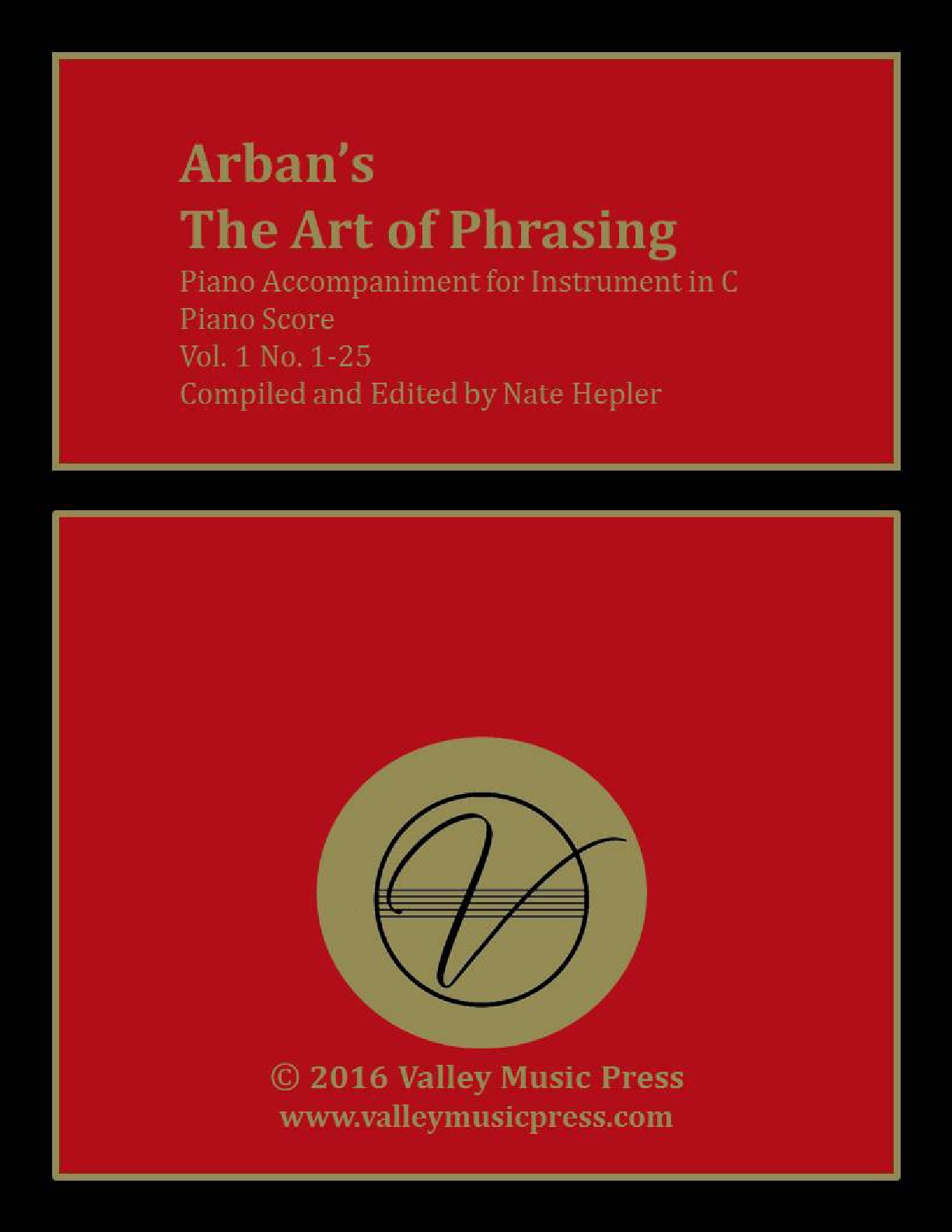 Arban Art of Phrasing Piano Accompaniment Vol. 1 No. 1-25 (C)
