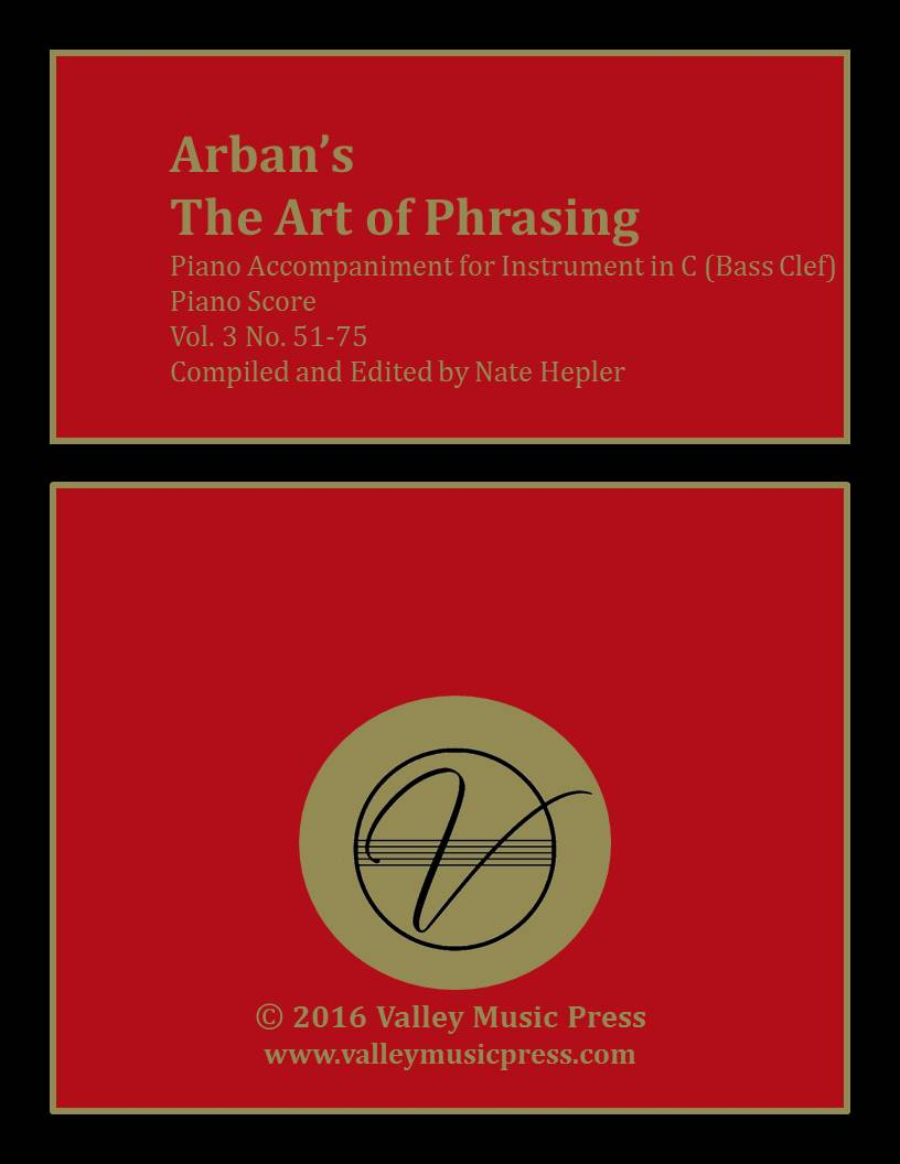 Arban Art of Phrasing Piano Accompaniment Vol. 3 No. 51-75 (Trb)