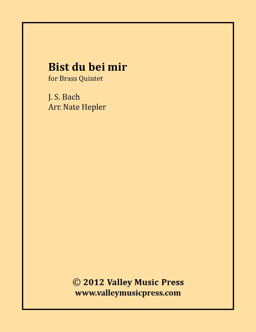 Bach - Bist du bei mir If Thou Are With Me BMV 508 (BQ)