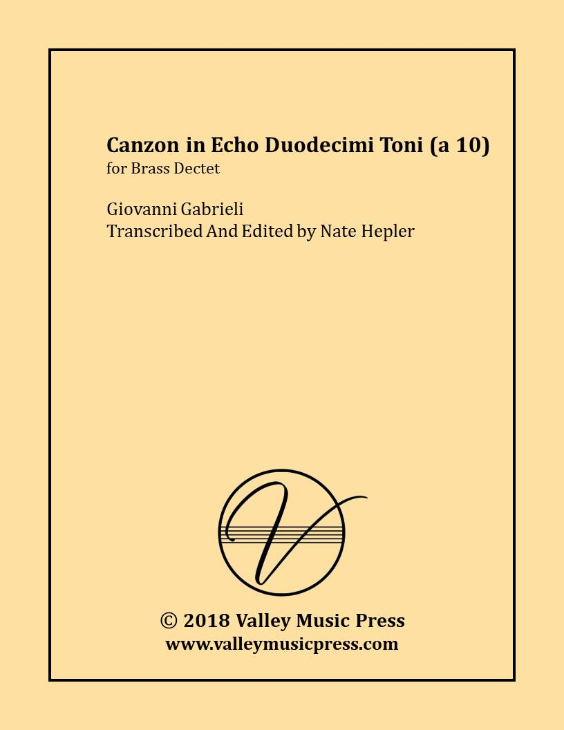 Gabrieli - Canzon in Echo Duodecimi Toni (a 10) (Brass Dectet) - Click Image to Close