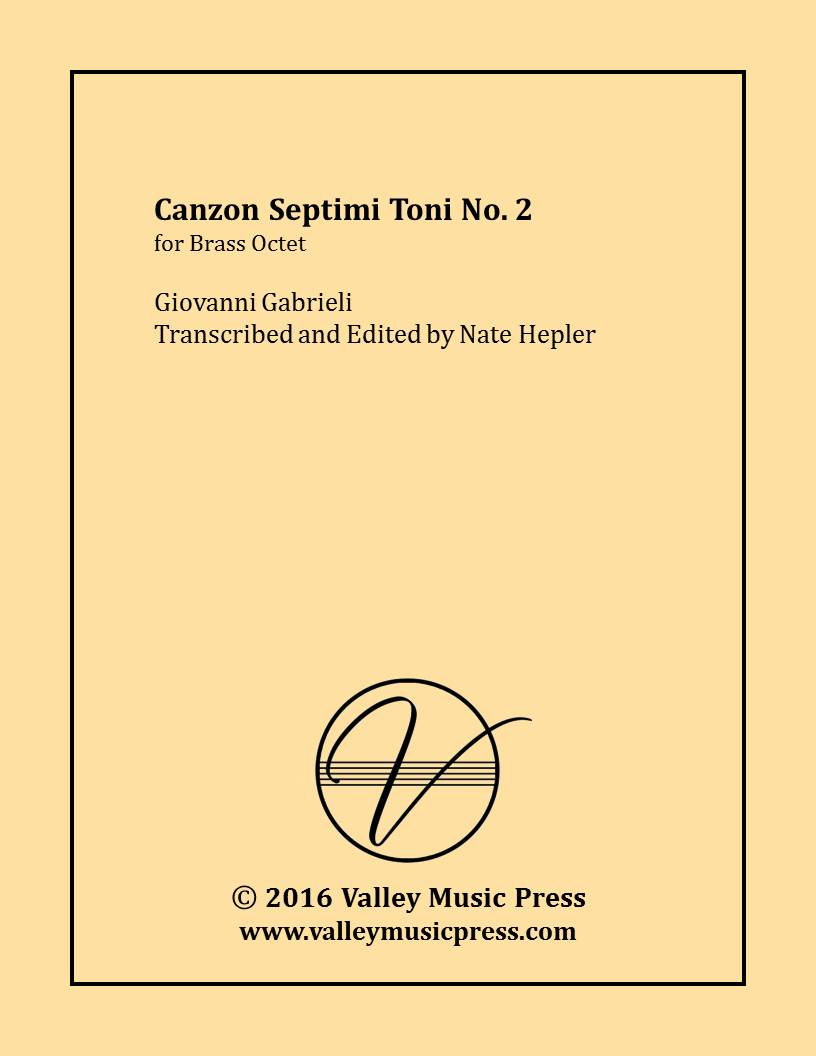 Gabrieli - Canzon septimi toni No. 2 (Brass Quintet & Organ) - Click Image to Close