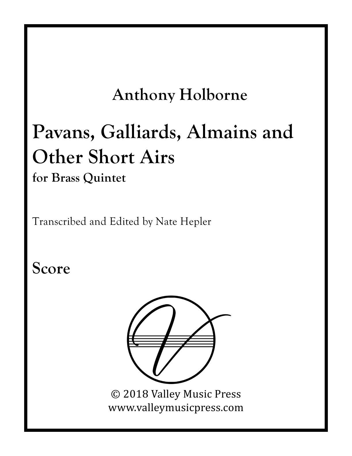 Holborne - Pavans, Galliards, Almains and Short Airs (All) (BQ) - Click Image to Close