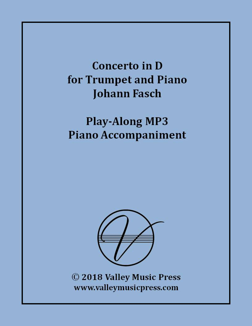 Fasch - Concerto in D for Trumpet (MP3 Piano Accompaniment)