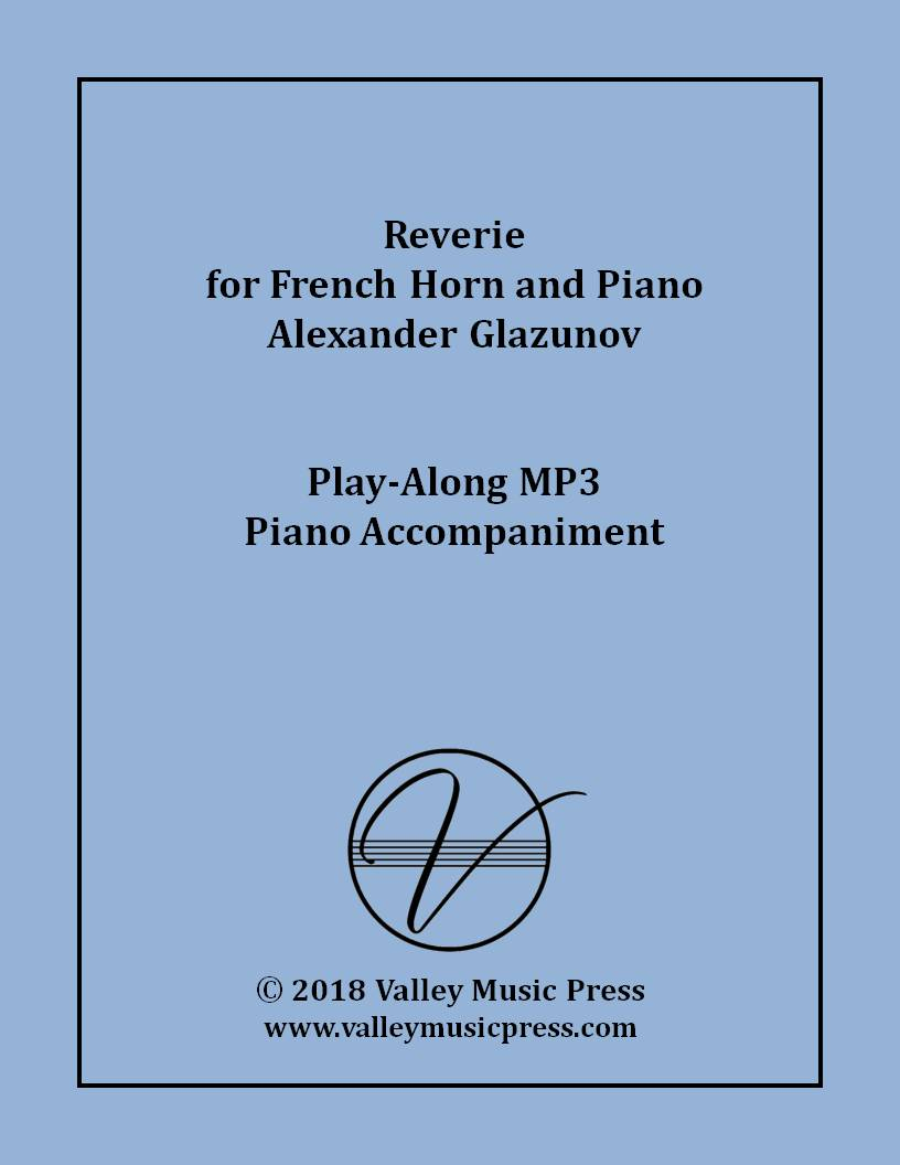 Glazunov - Reverie Op. 24 for Horn (MP3 Piano Accompaniment)