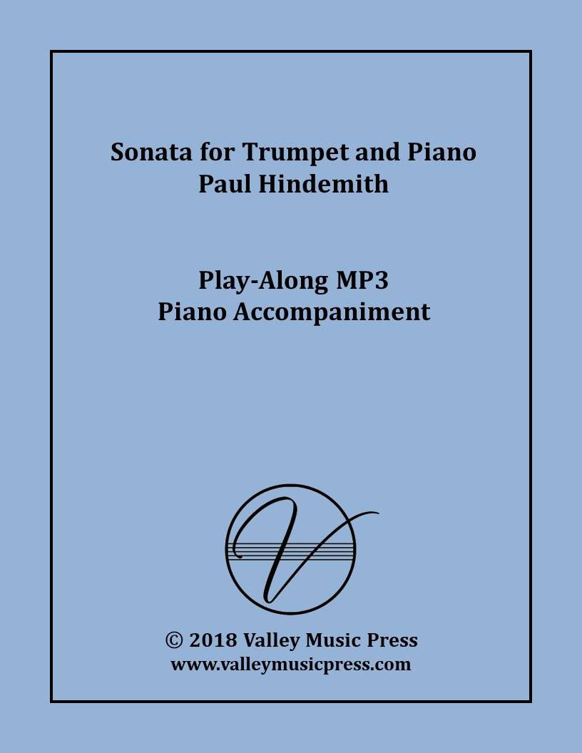 Hindemith - Sonata (Sonate) for Trumpet & Piano (Accompaniment)