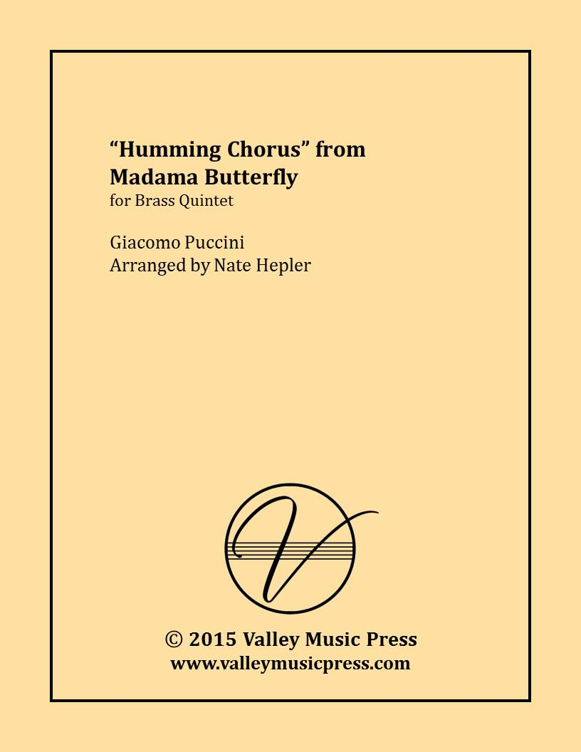 Puccini - Humming Chorus from Madama Butterfly (Brass Quintet)