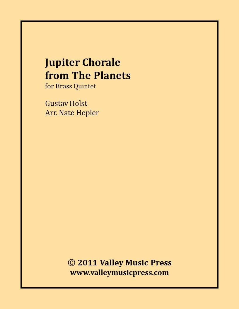 Holst - Jupiter Chorale from The Planets (Brass Quintet)