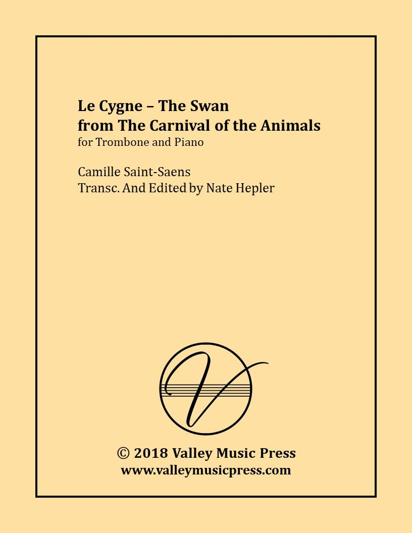 Saint-Saens - Le Cygne The Swan (Trombone & Piano) Camille Saint