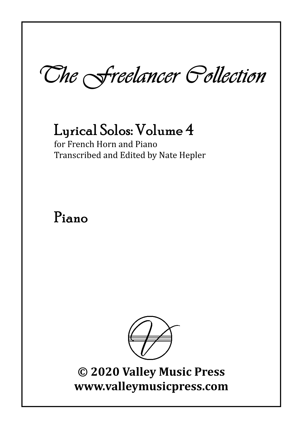 Hepler - Freelancer Collection Lyrical Solos Vol 4 (Hrn & Piano)