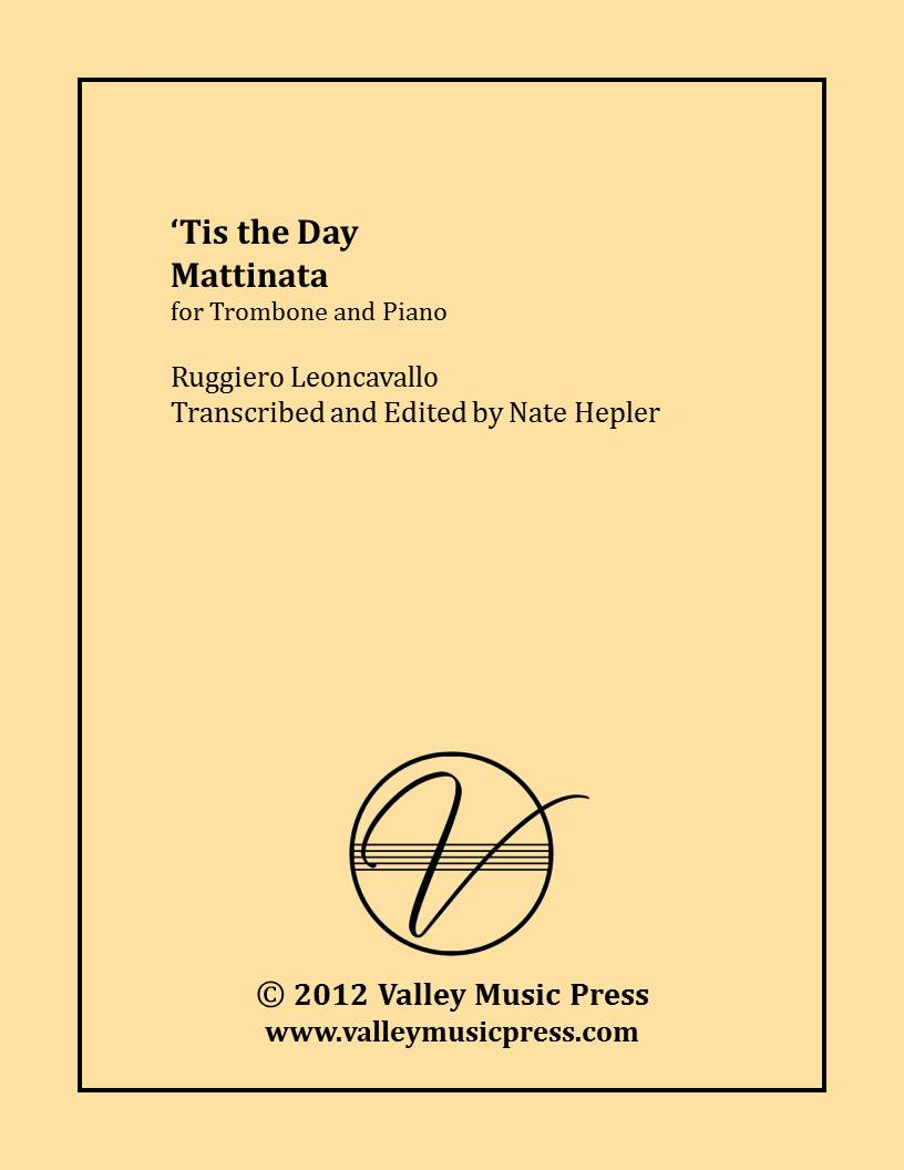 Leoncavallo - Tis the Day Mattinata (Trumpet & Piano)
