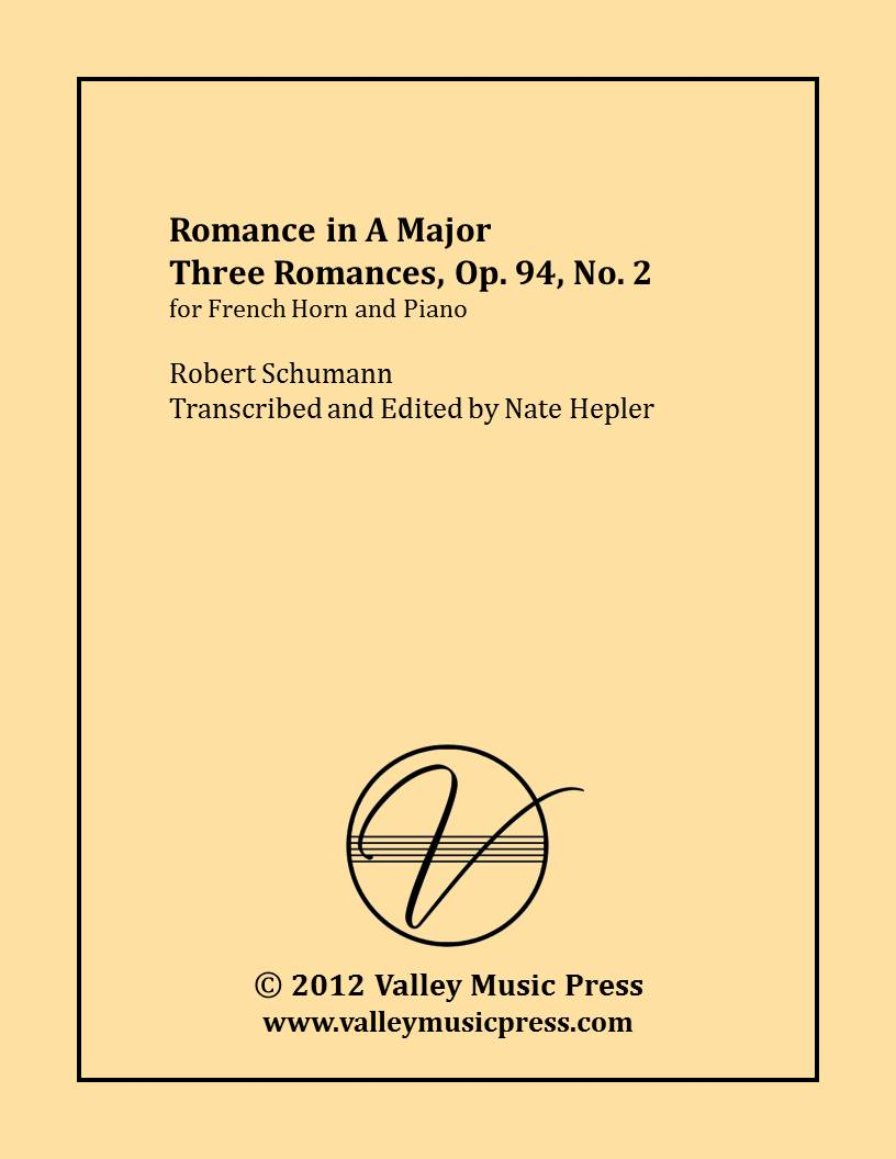 Schumann - Romance in A Major Op. 94 No. 2 (Horn & Piano)