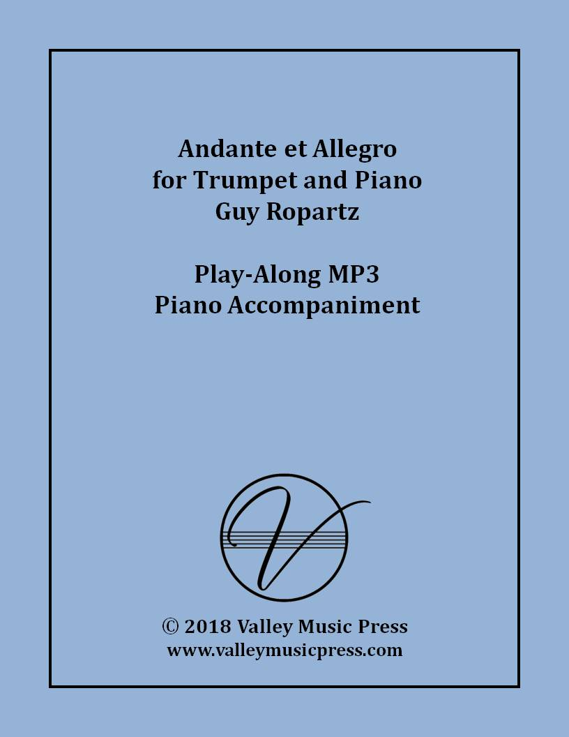 Ropartz - Andante et Allegro for Trumpet (MP3 Accompaniment)