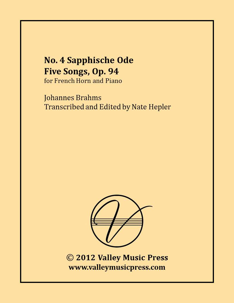 Brahms - Sapphische Ode Five Songs Op. 94 No. 4 (Hrn & Piano)