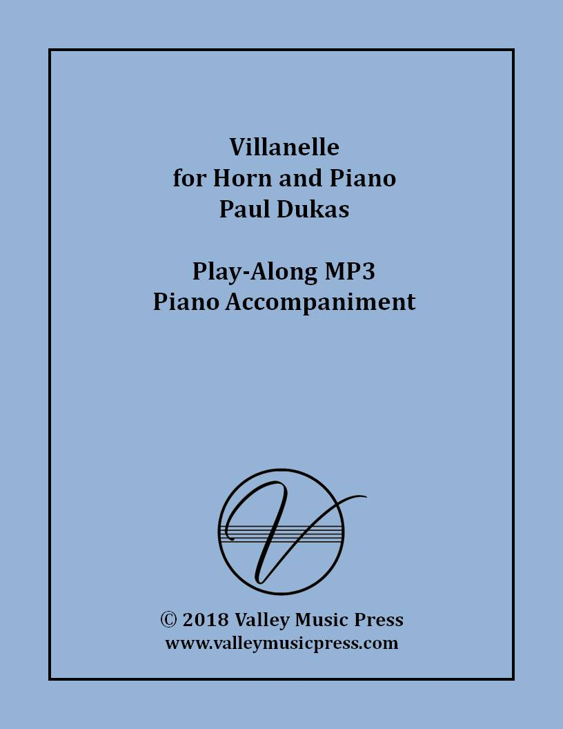 Dukas - Villanelle (MP3 Piano Accompaniment)