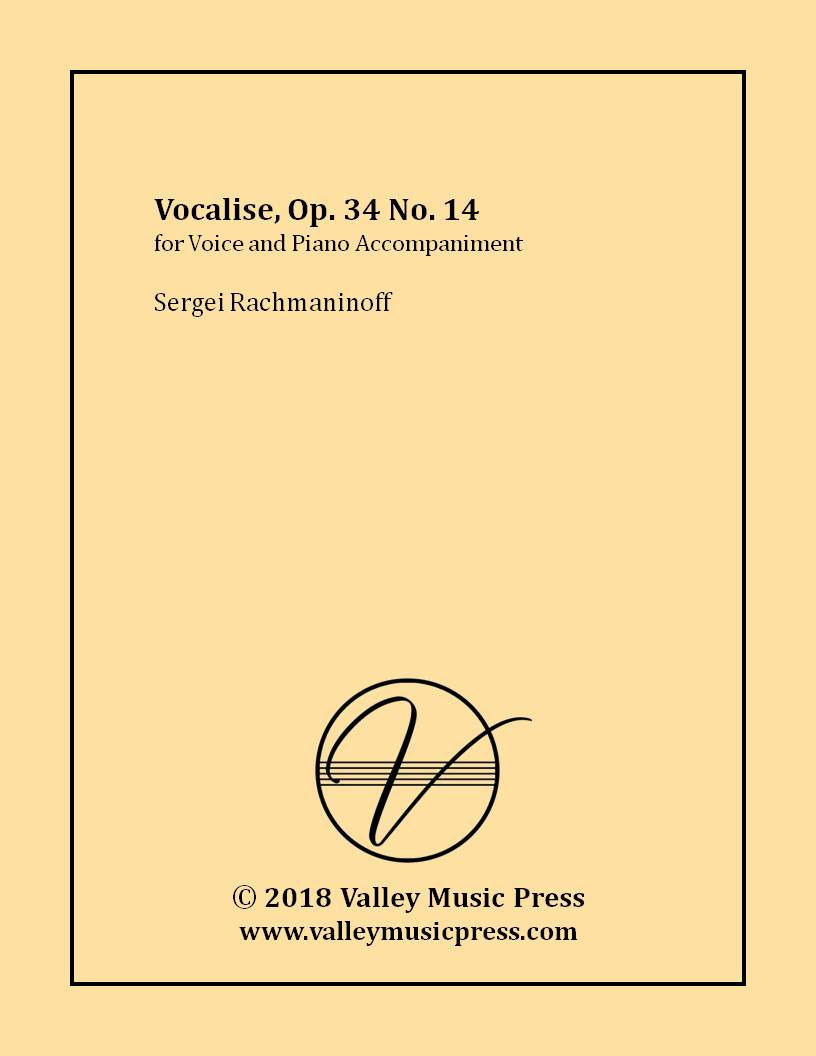 Rachmaninoff - Vocalise Op. 34 No. 14 (Voice)