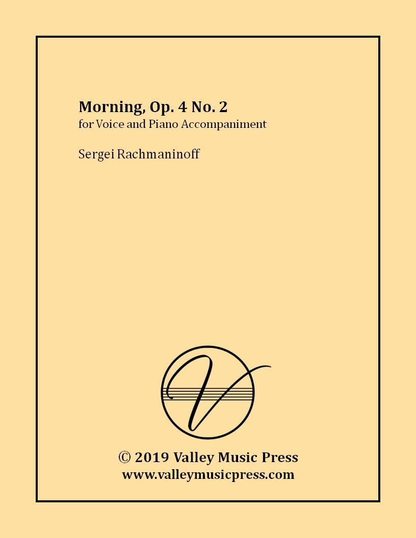 Rachmaninoff - Morning Op. 4 No. 2 (Voice)