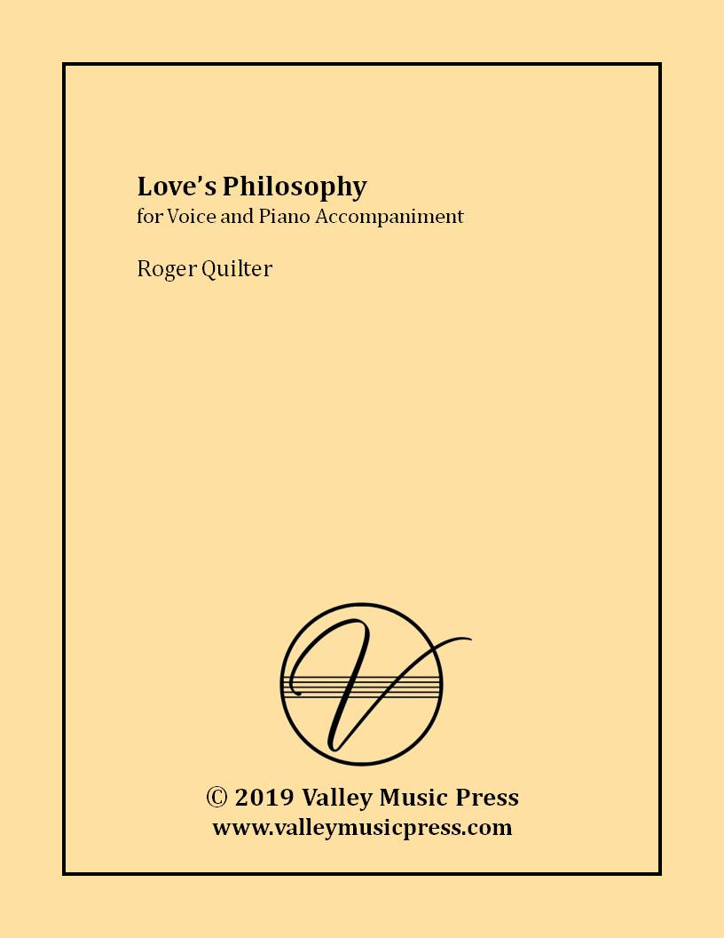 Quilter - Love's Philosophy Op. 3 No. 1 (Voice)