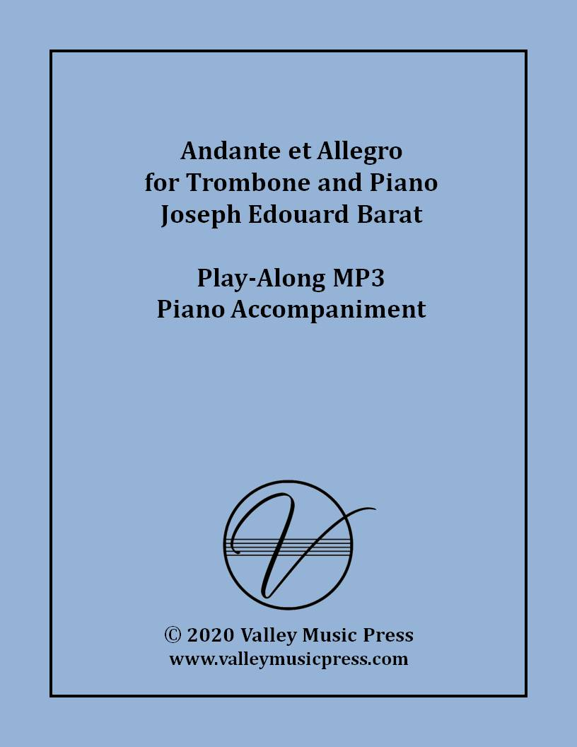 Barat - Andante et Allegro for Trombone (MP3 Accompaniment)