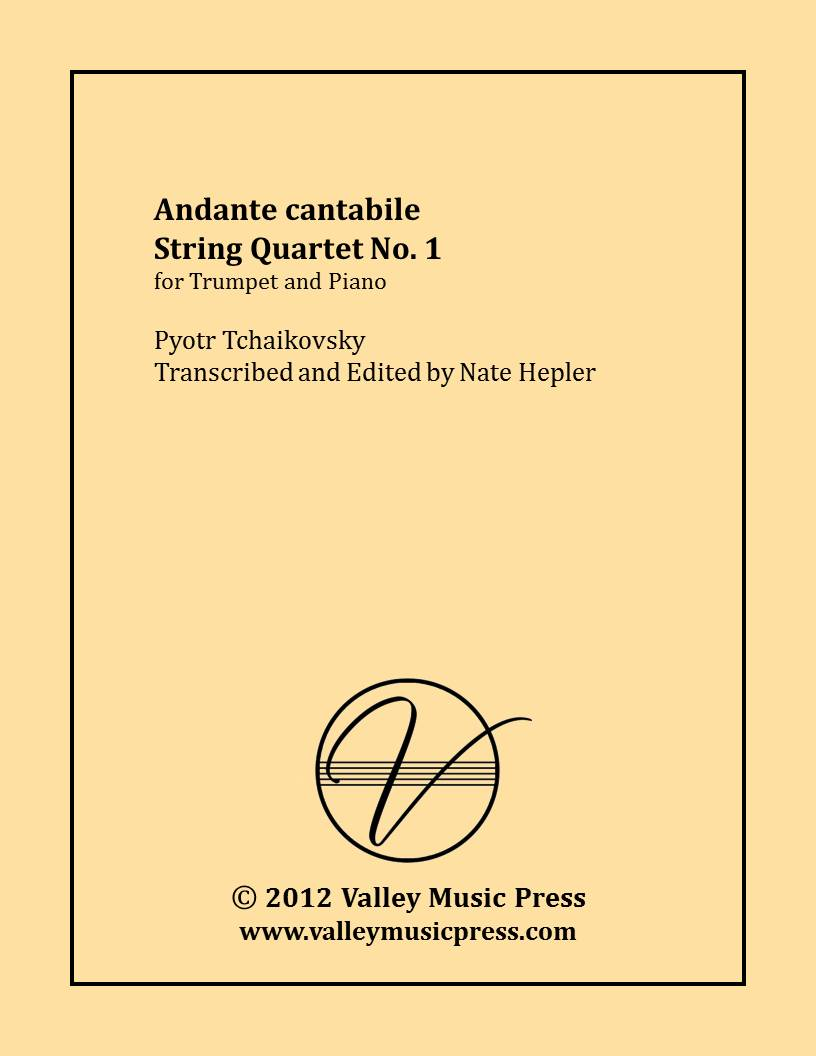 Tchaikovsky - Andante cantabile String Quartet N1 (Trp & Piano)