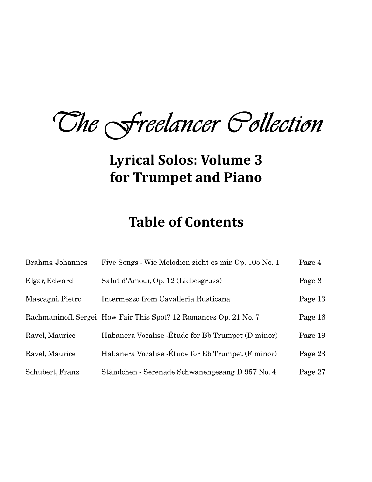 Hepler - Freelancer Collection Lyrical Solos Vol 3 (Trp & Piano)