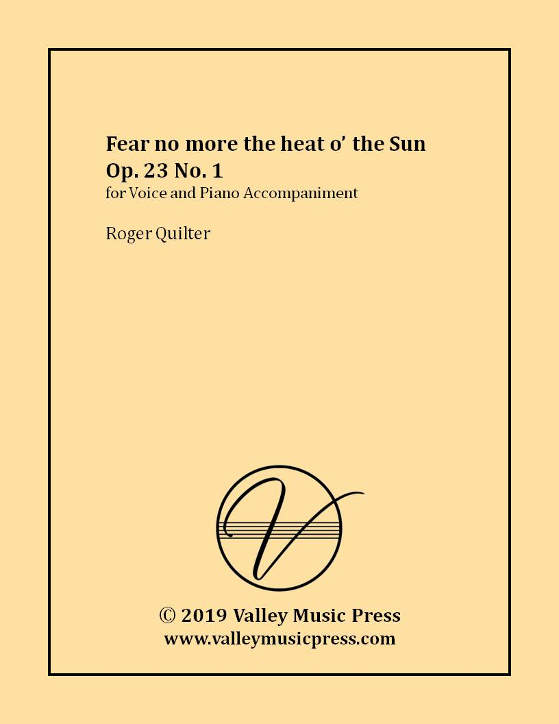 Quilter - Fear no more the heat o' the Sun Op. 23 No. 1 (Voice)