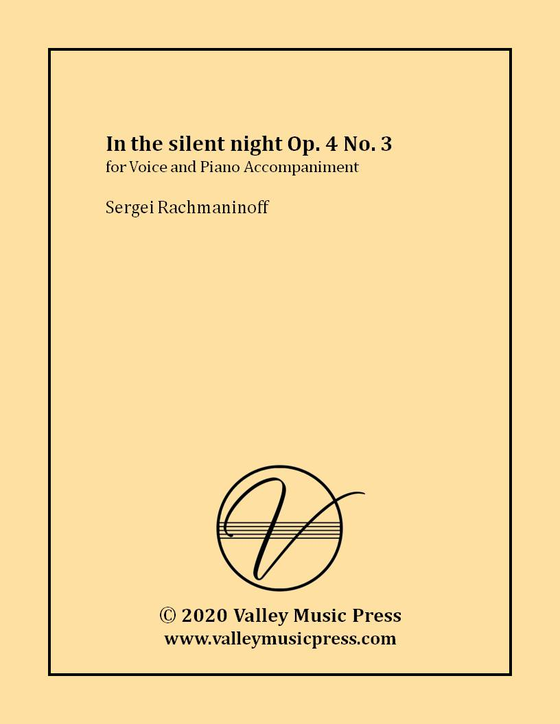 Rachmaninoff - In the silent night Op. 4 No. 3 (Voice)