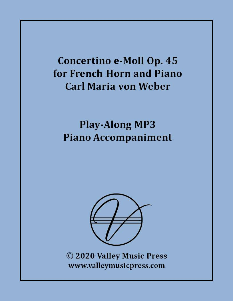 Weber - Concertino in E minor Op. 45 (MP3 Accompaniment)