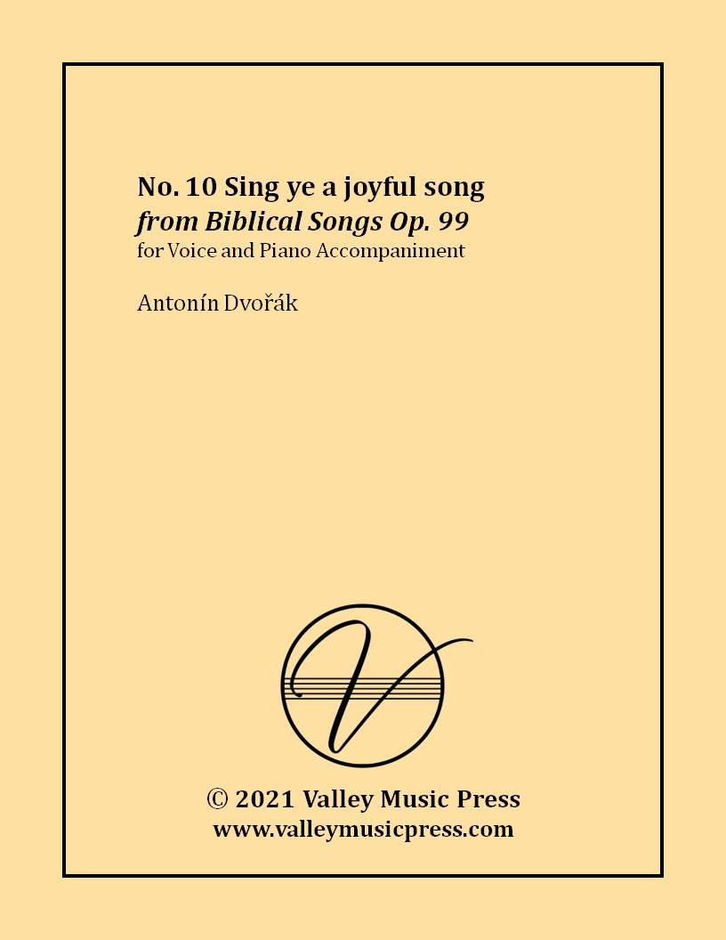 Dvorak - Sing ye a joyful song Op. 99 No. 10 (Voice)