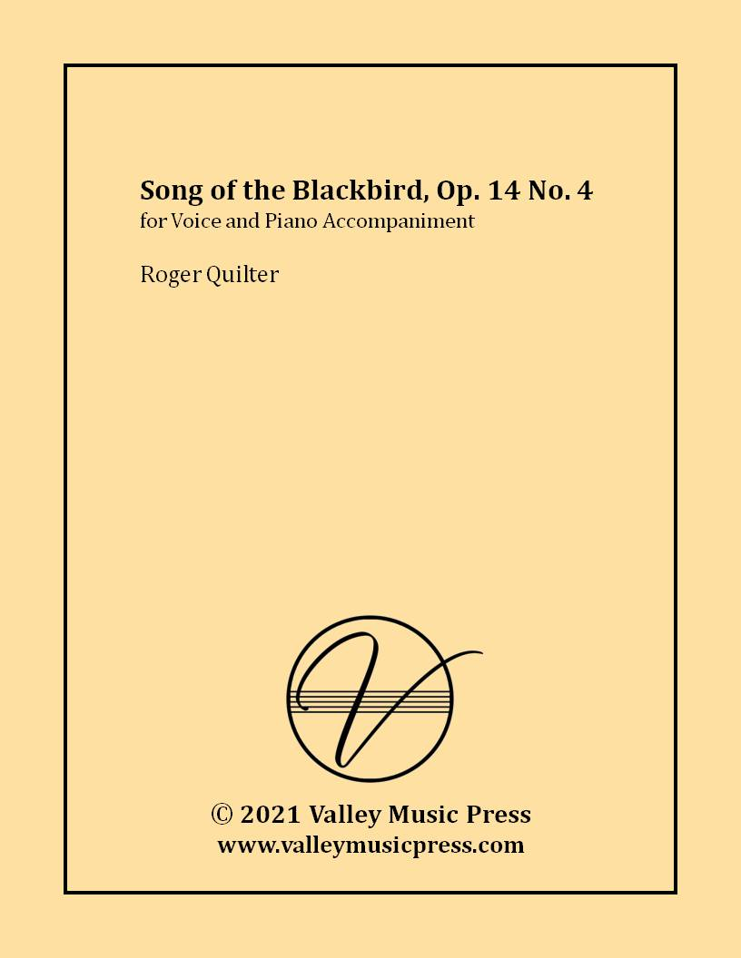 Quilter - Song of the Blackbird Op. 14 No. 4 (Voice)